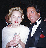 With Sharon Stone