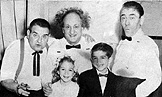 With relation Larry Fine and the other Three Stooges