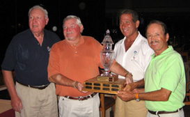 Robert and the other members of the winners of the La Quinta Chamber Golf Tournament